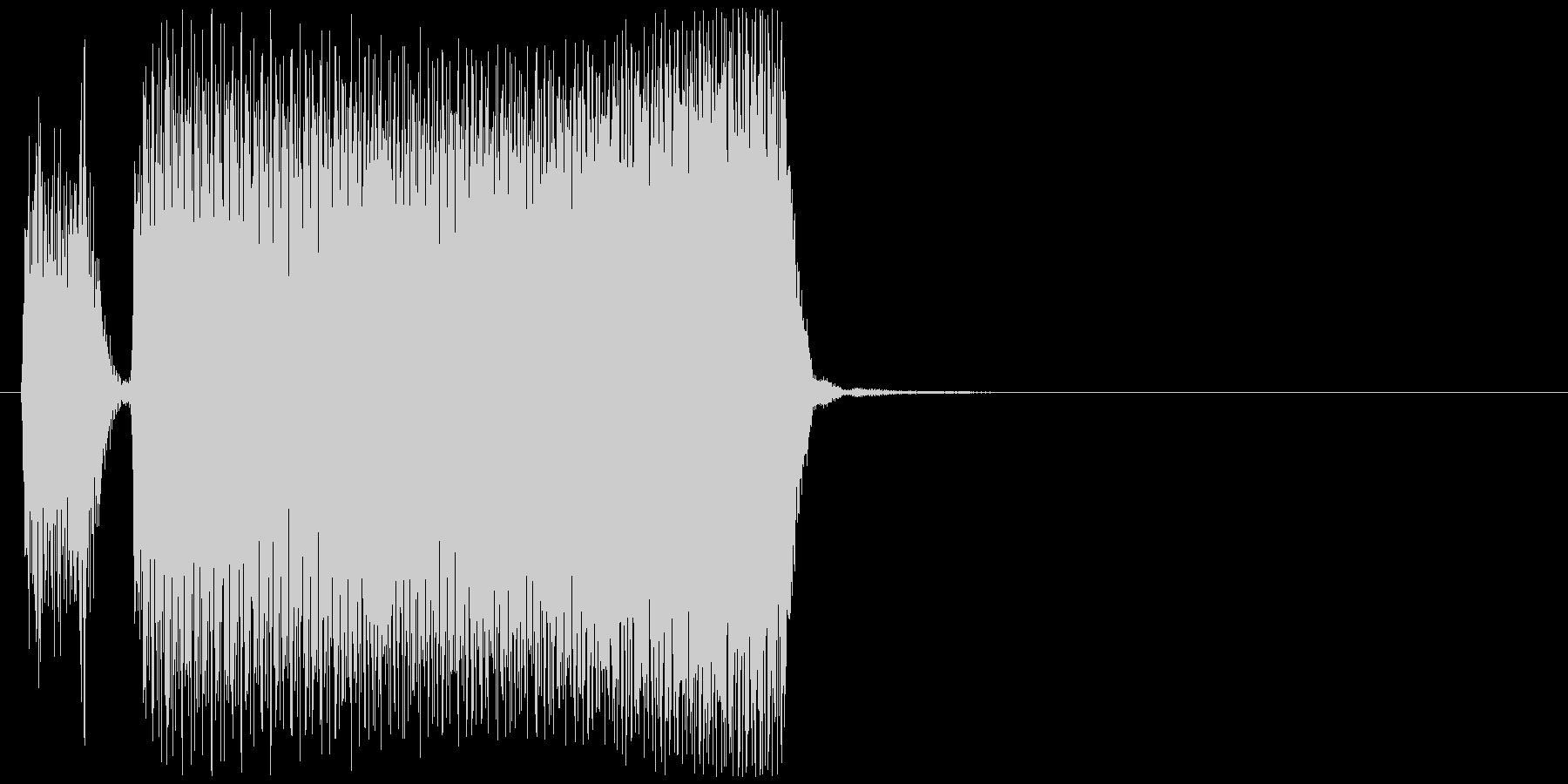 ブブーッ(車、クラクション)の未再生の波形