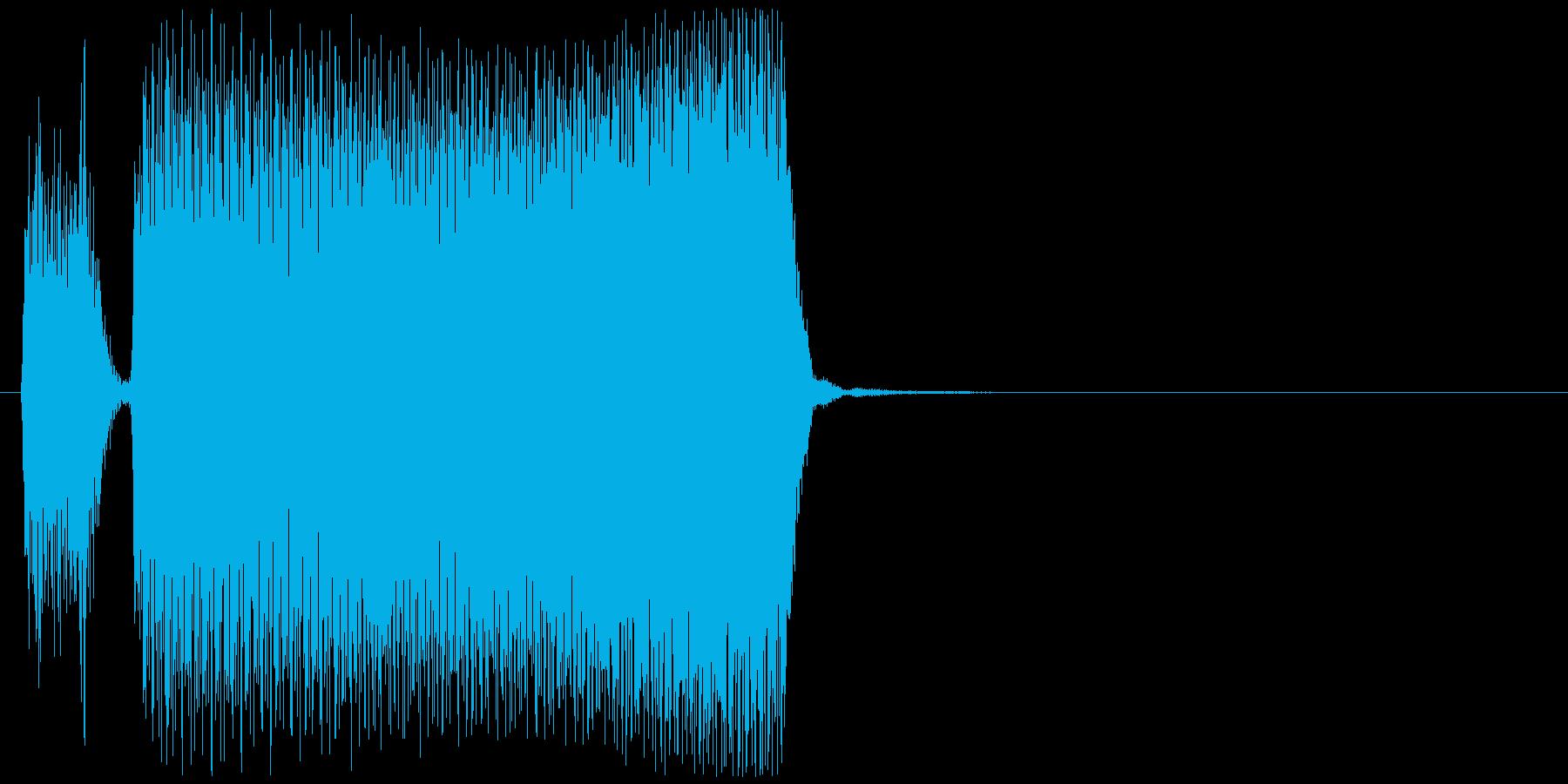 ブブーッ(車、クラクション)の再生済みの波形
