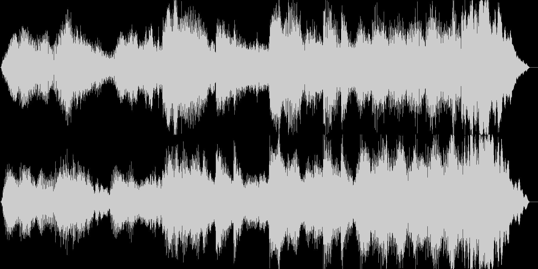 暖かな印象のクラシック楽曲の未再生の波形