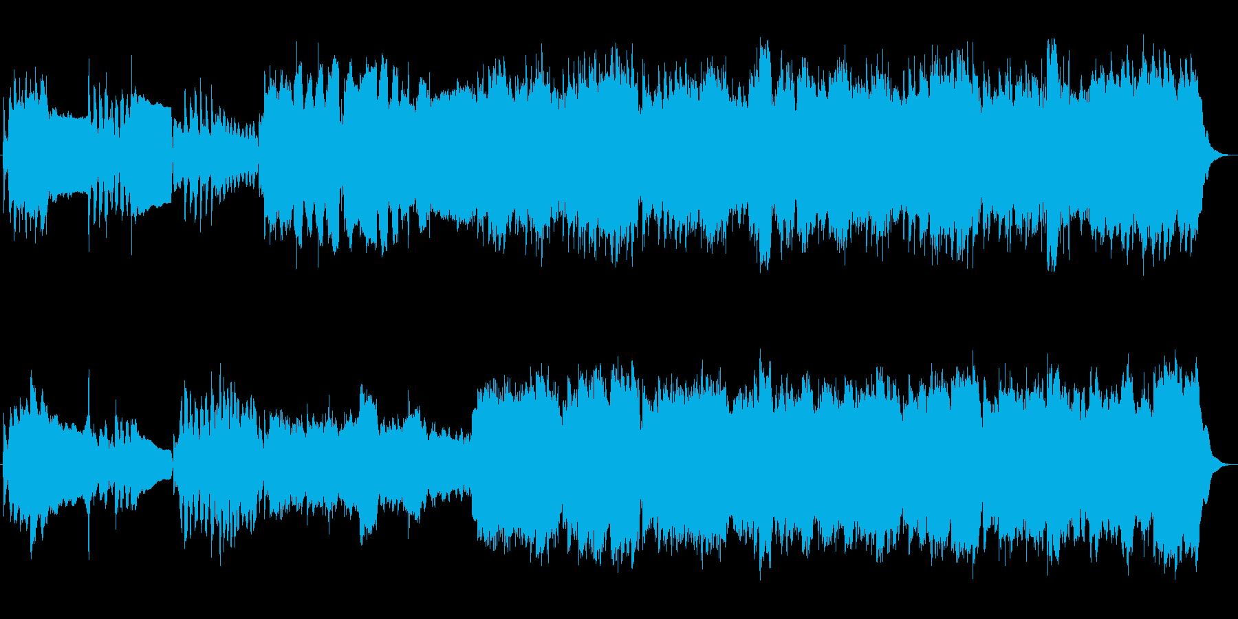 悲しいドラマチックバラードの再生済みの波形