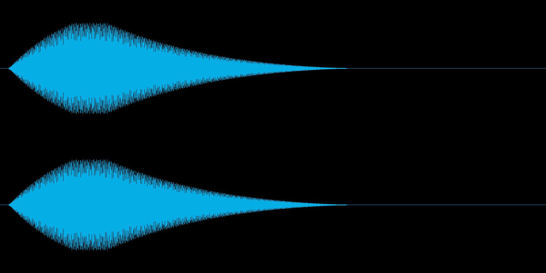 キーン(気配、ホラー)の再生済みの波形