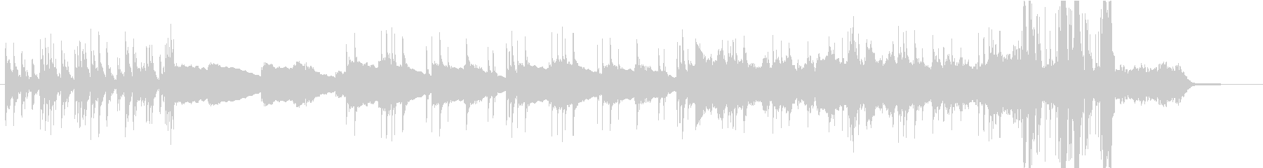 メロウなエレピと複雑なドラムのインストの未再生の波形