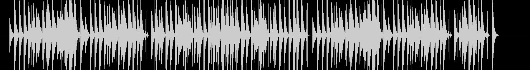 小動物っぽさのあるかわいいマリンバソロの未再生の波形