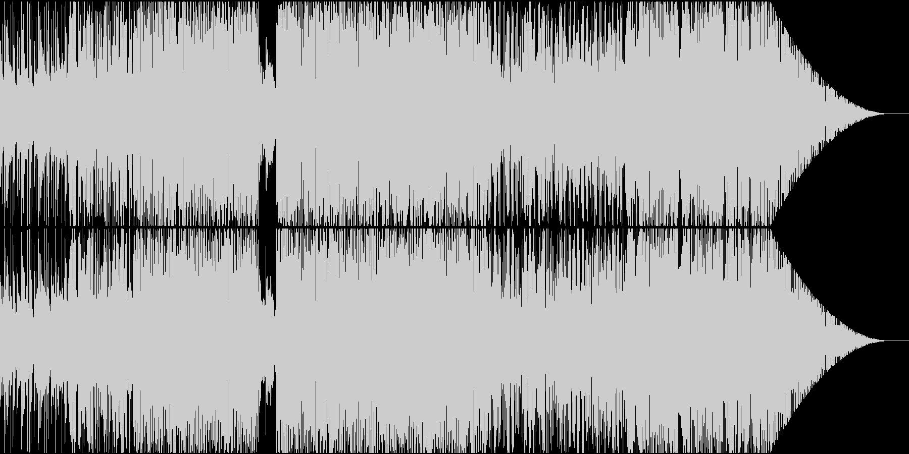 じんわりと肌寒いエレクトロニカの未再生の波形