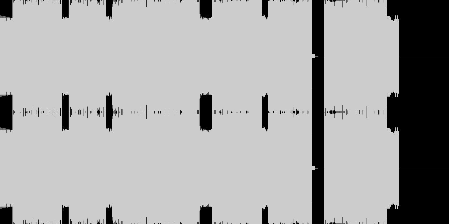 悲しいゲームオーバーのチップチューンの未再生の波形