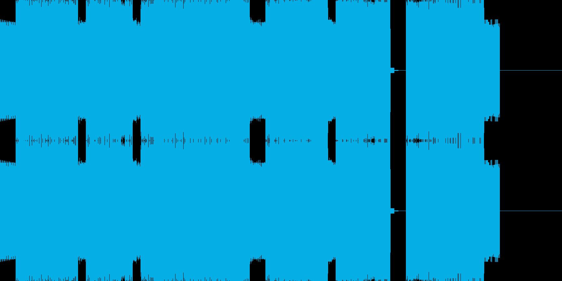 悲しいゲームオーバーのチップチューンの再生済みの波形