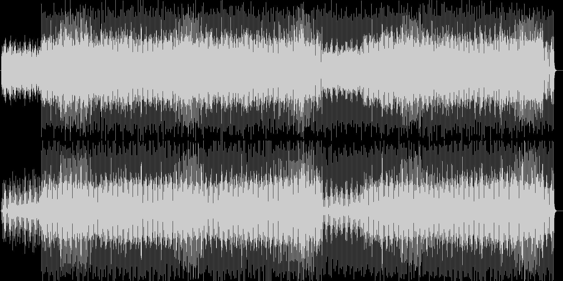 細かな音が続く繊細なシンセ曲の未再生の波形