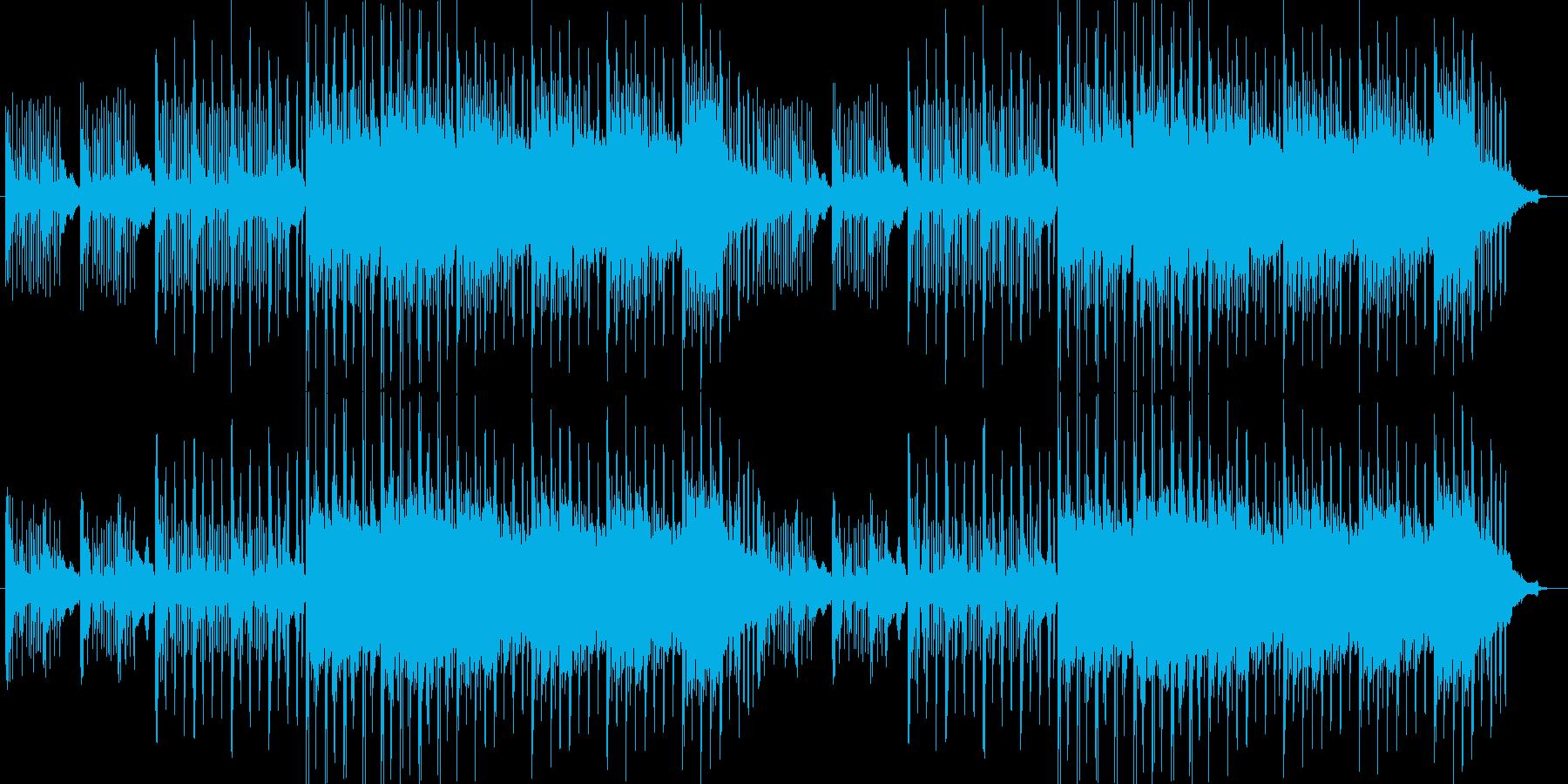 エレクトロニカでオシャレな曲の再生済みの波形