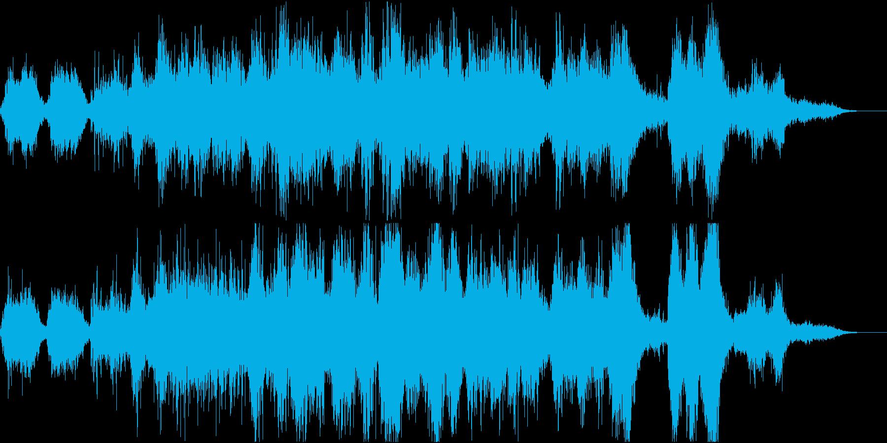 ちょっと不気味でホラーなアンビエントの再生済みの波形