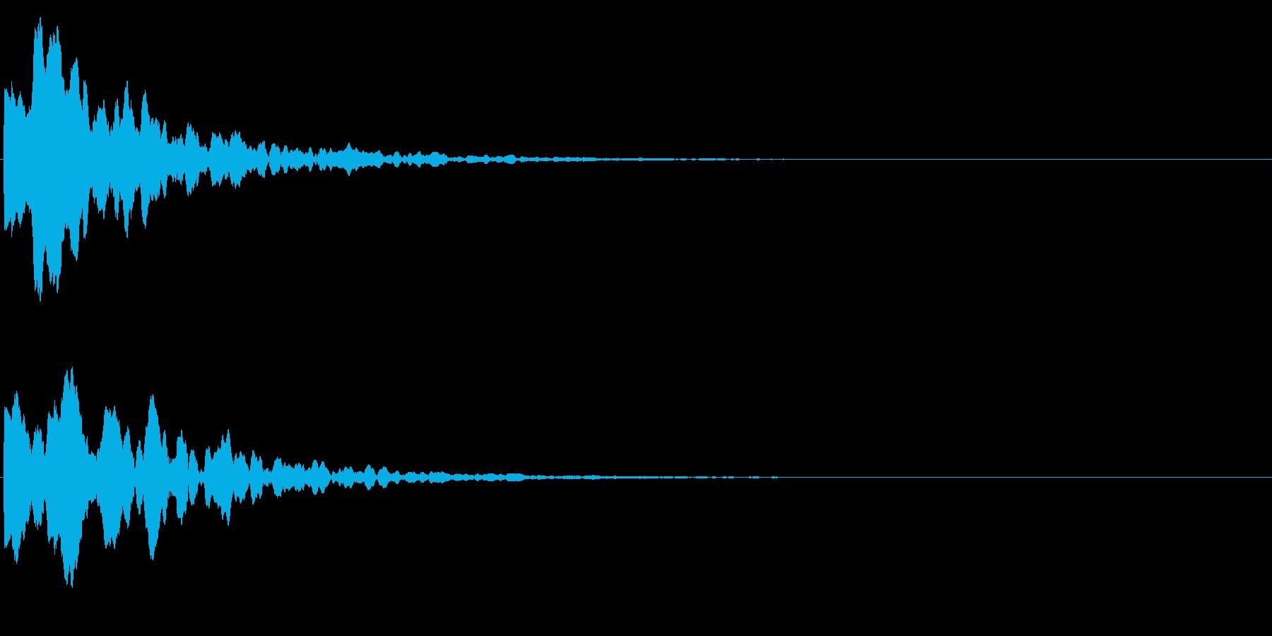 ゲームスタート、決定、ボタン音-145の再生済みの波形