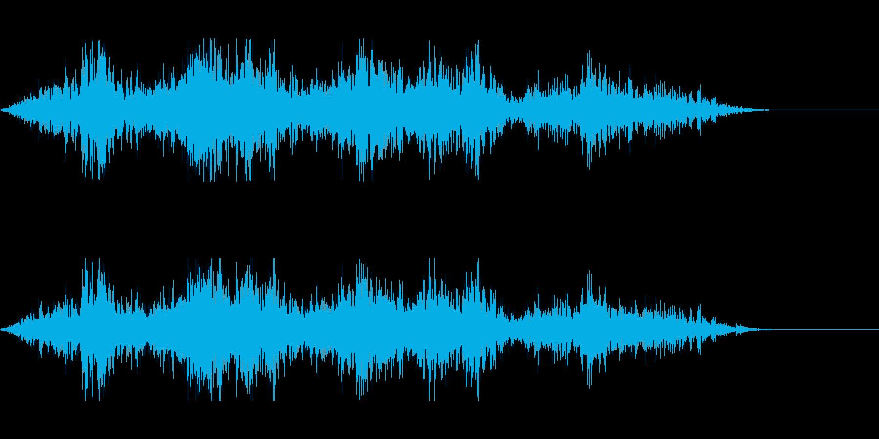 吹きつける風の音の再生済みの波形