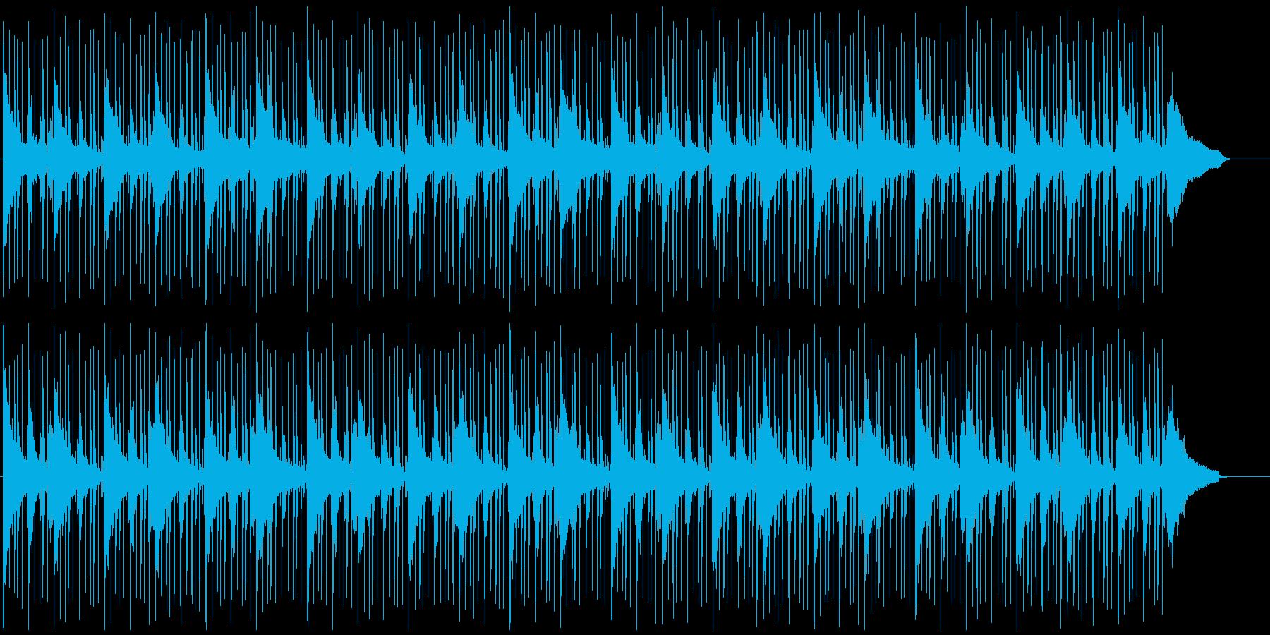 ループ系の使いやすいBGM(パッドなし)の再生済みの波形
