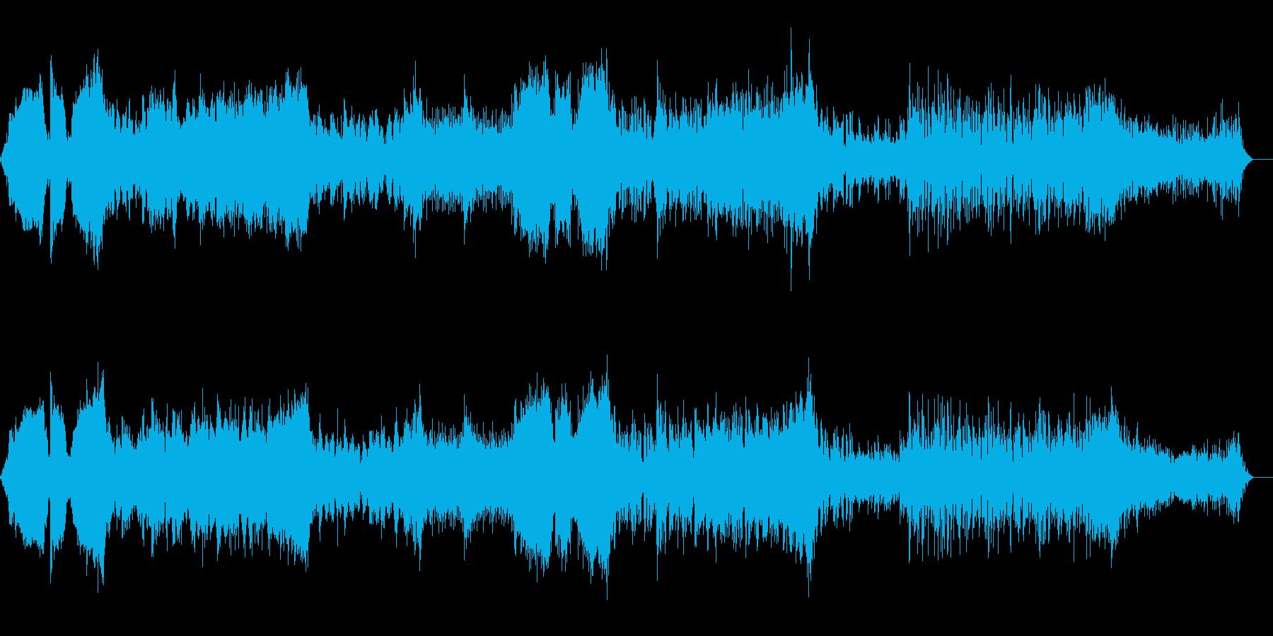 ハイブリットなムービートレーラーの再生済みの波形