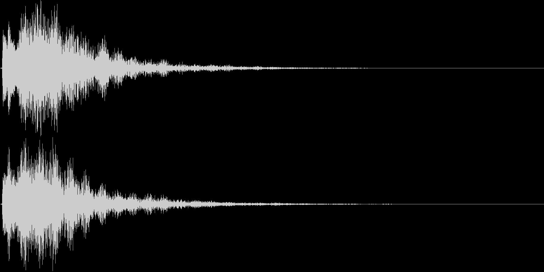 サウンドロゴ(煌びやか、残響)の未再生の波形