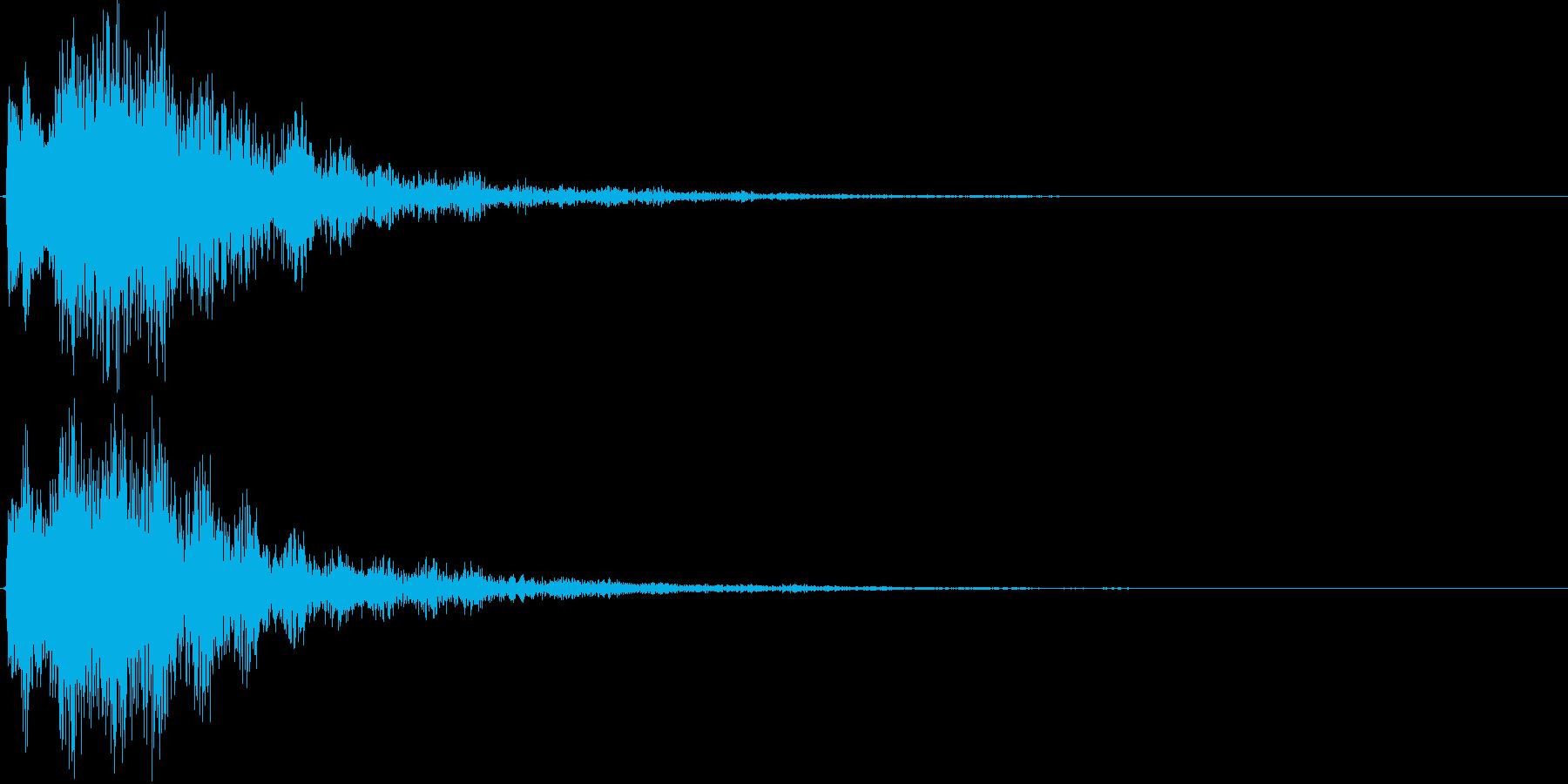 サウンドロゴ(煌びやか、残響)の再生済みの波形
