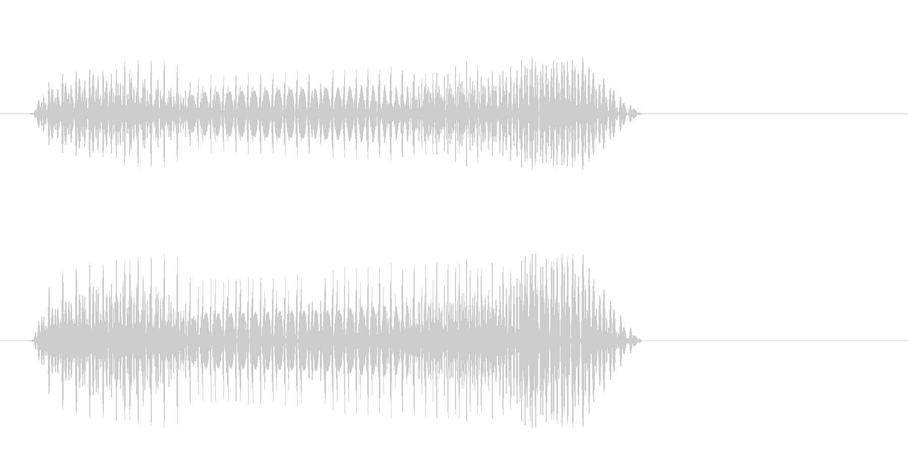 プヨォン(かわいい)の未再生の波形
