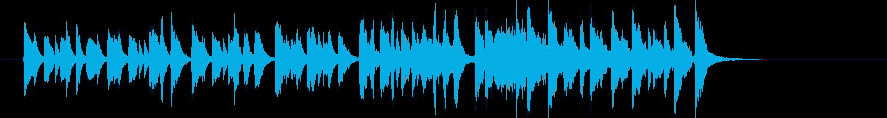 コミカルで軽快なシンセの追いかけっこの再生済みの波形
