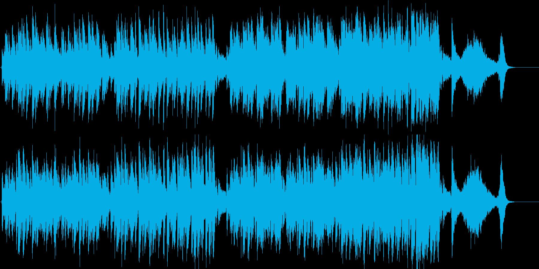 陽気なピアノ曲の再生済みの波形