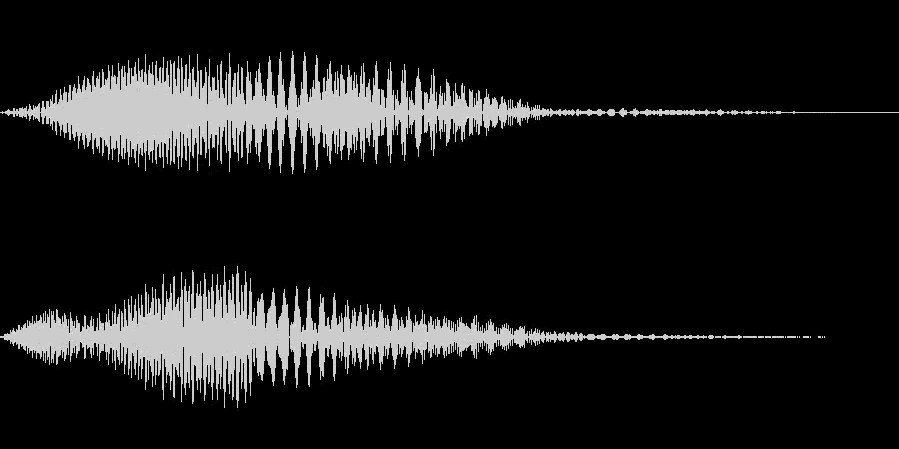 かわいいキャンセル音です。の未再生の波形