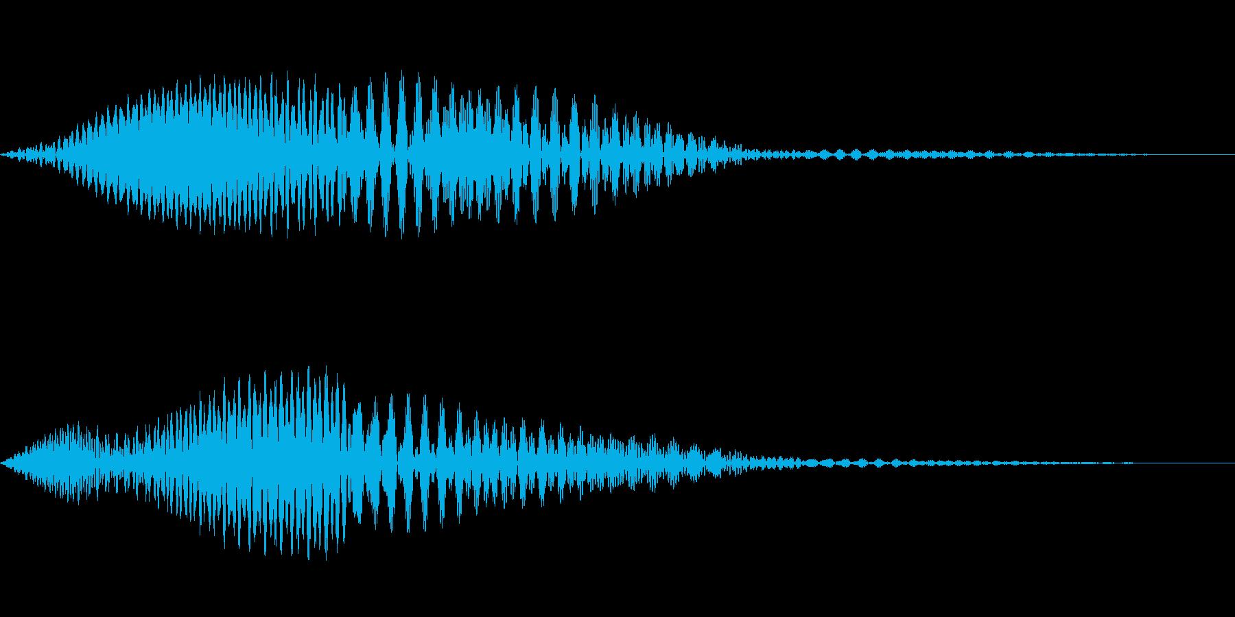 かわいいキャンセル音です。の再生済みの波形