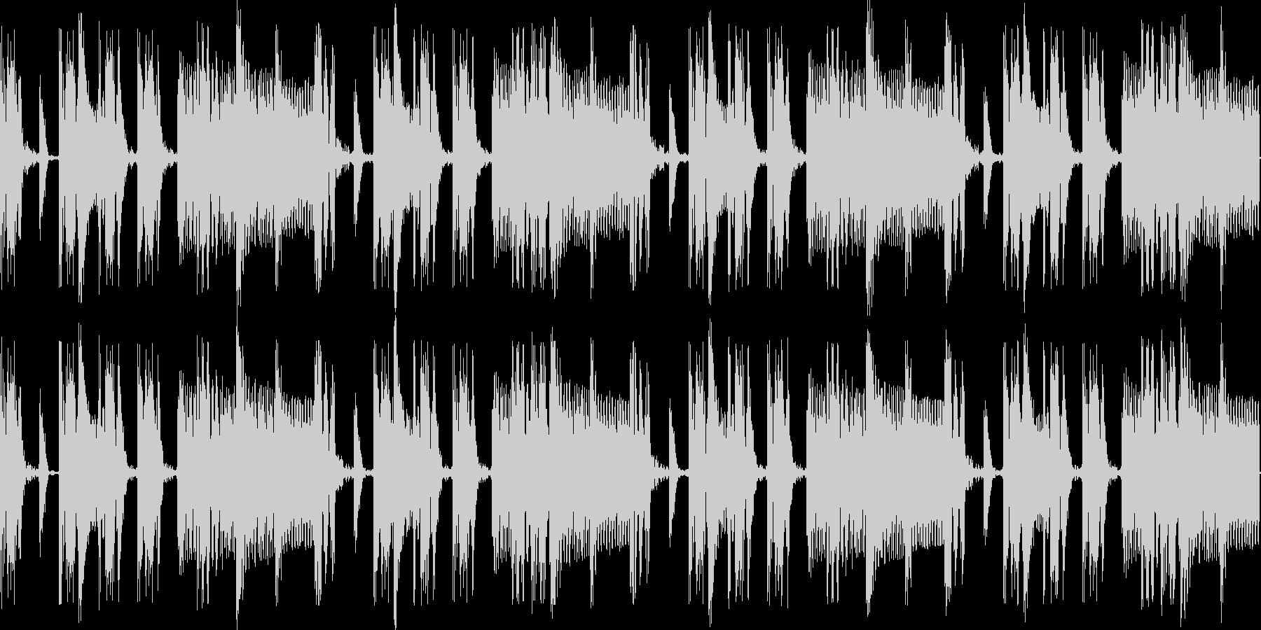 電子ドラム&シンセベースのリズムループの未再生の波形