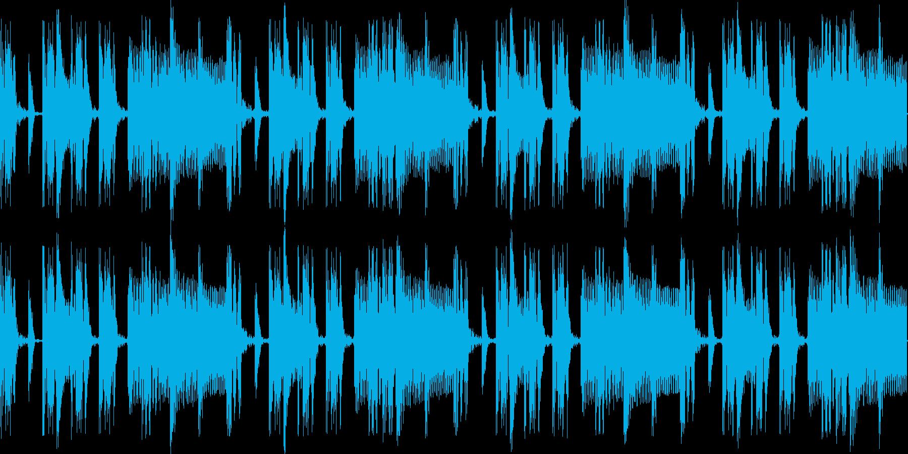 電子ドラム&シンセベースのリズムループの再生済みの波形
