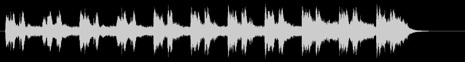 幻想的で静かなリラクゼーション音楽の未再生の波形