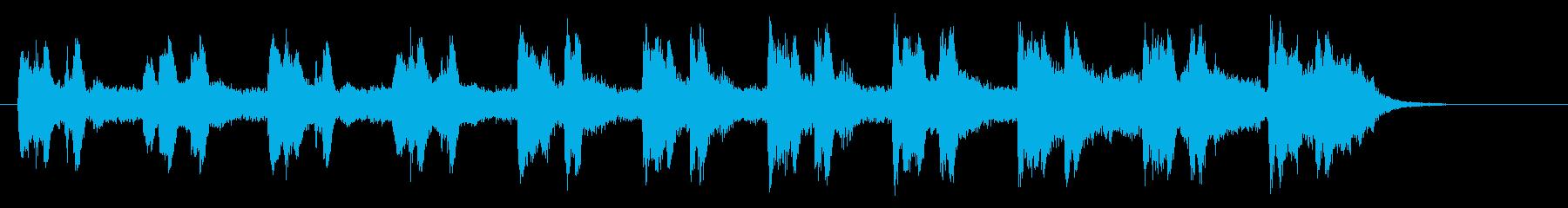幻想的で静かなリラクゼーション音楽の再生済みの波形