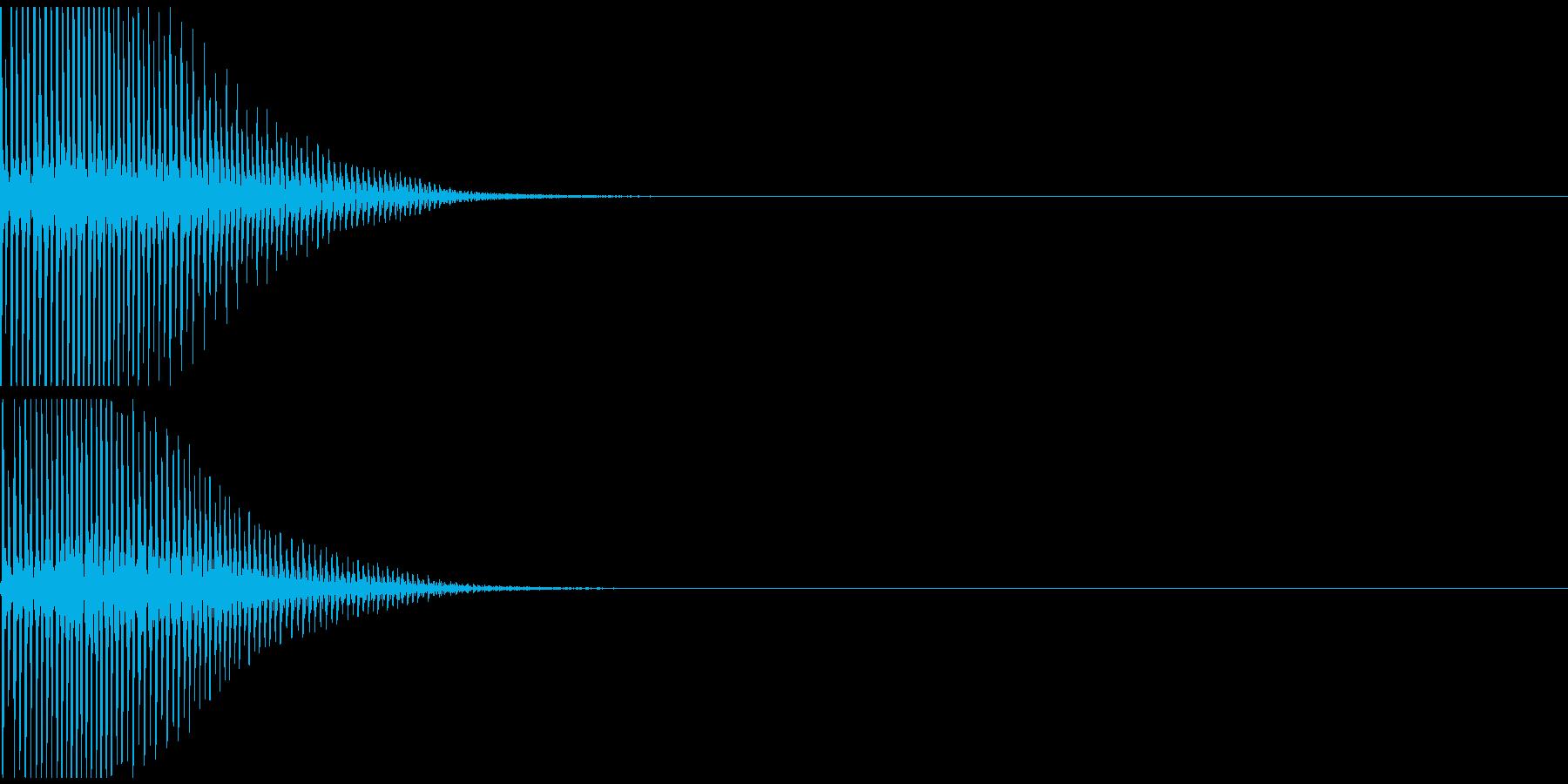 ビヨヨン 失敗 オチ 不正解 ミス NGの再生済みの波形