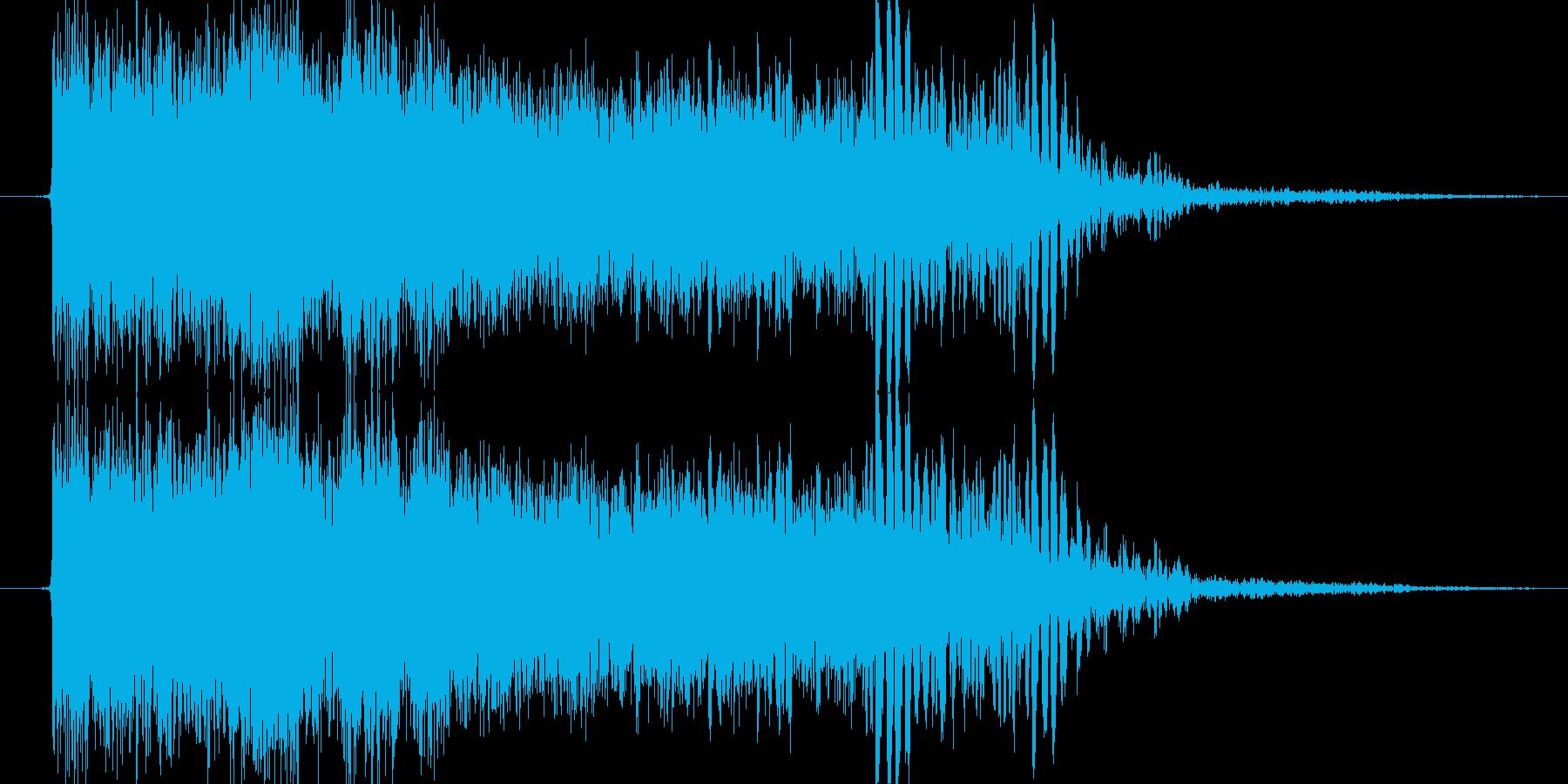 雷魔法(雷撃)の再生済みの波形