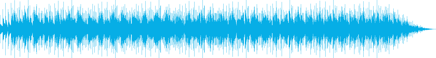 木琴を使った環境音楽の再生済みの波形