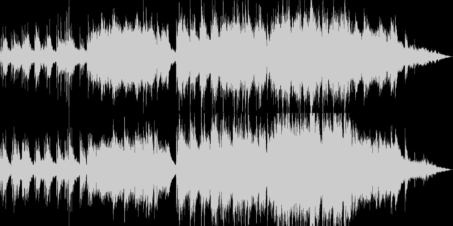 バラード・ピアノ・透明感の未再生の波形