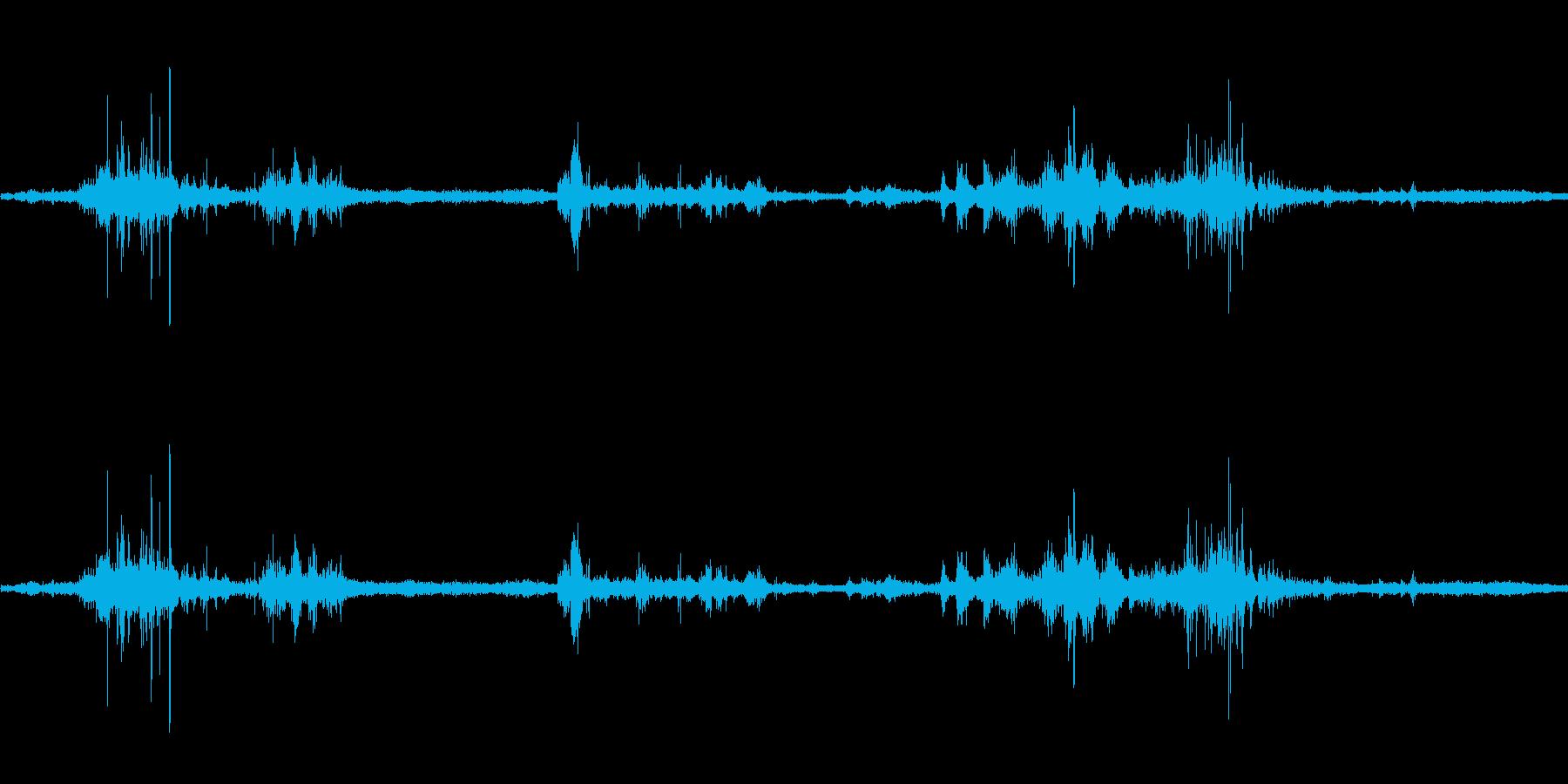 【生音】雷3 - 風と雷と通行音 「ざ…の再生済みの波形