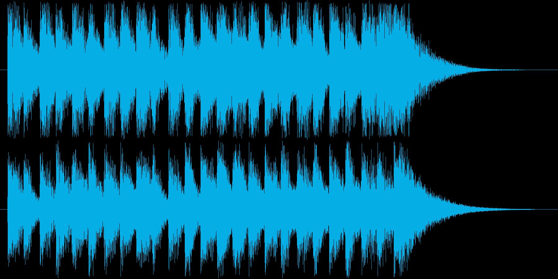 閃きを感じさせる、明るい曲の再生済みの波形