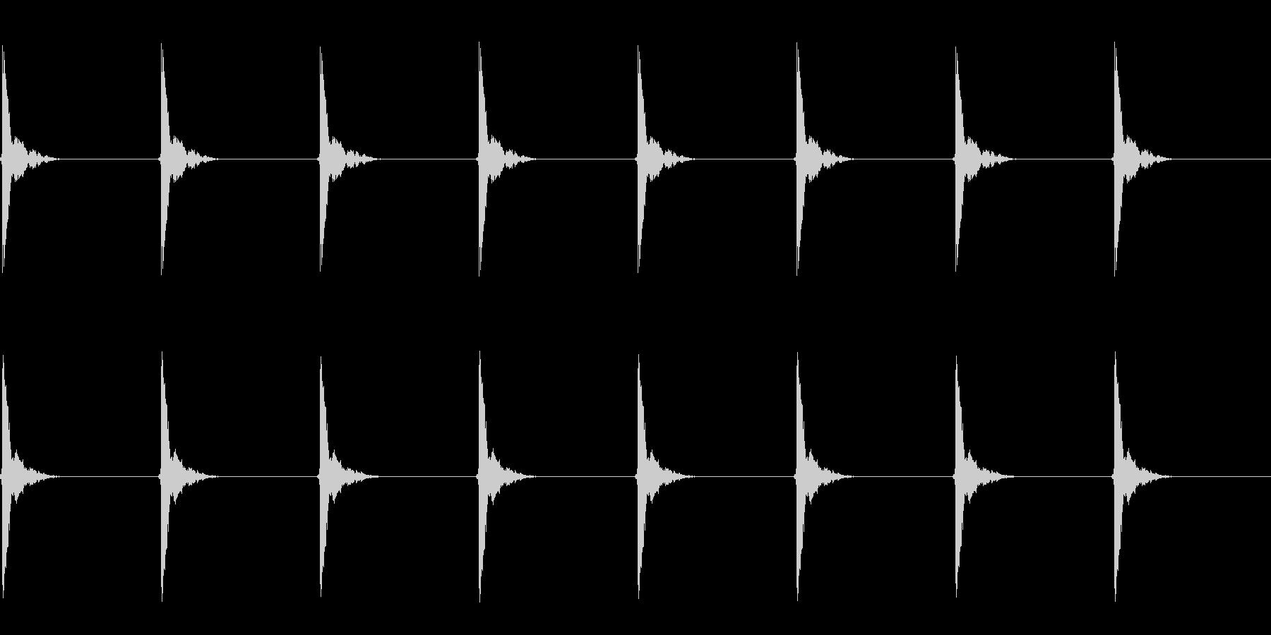 ポクポク…(木魚/シンキングタイム)の未再生の波形