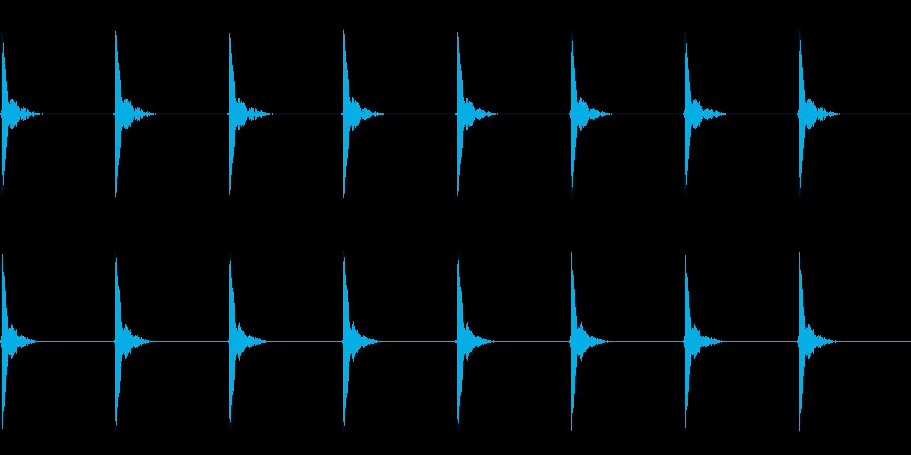 ポクポク…(木魚/シンキングタイム)の再生済みの波形