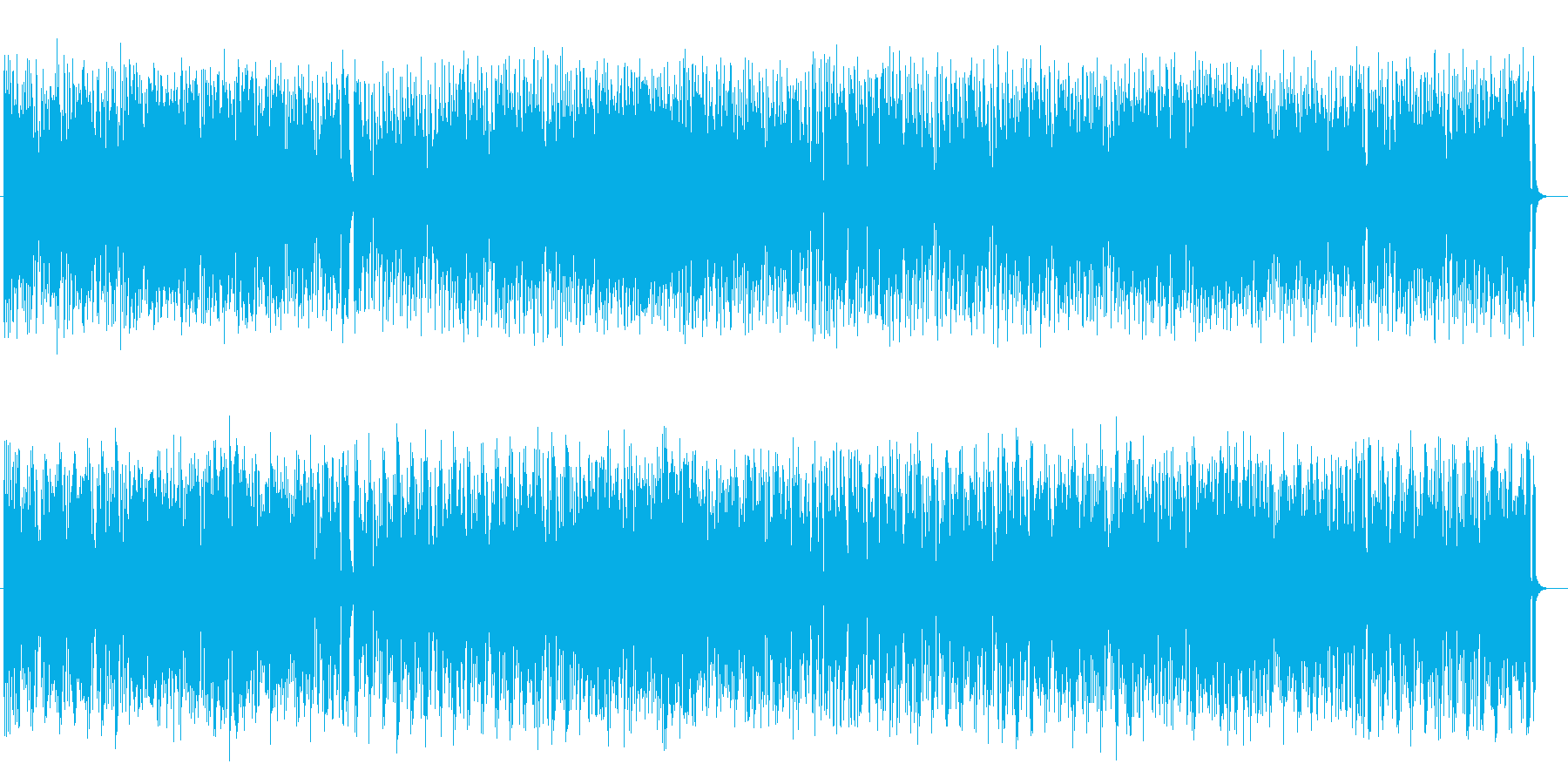 ユニークでかわいいポップミュージックの再生済みの波形