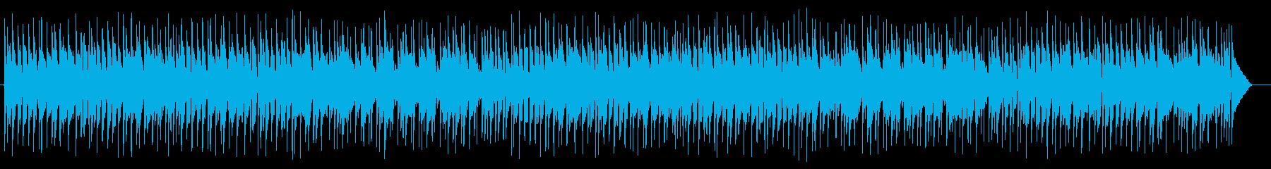 セピア感のあるピアノシンセの再生済みの波形