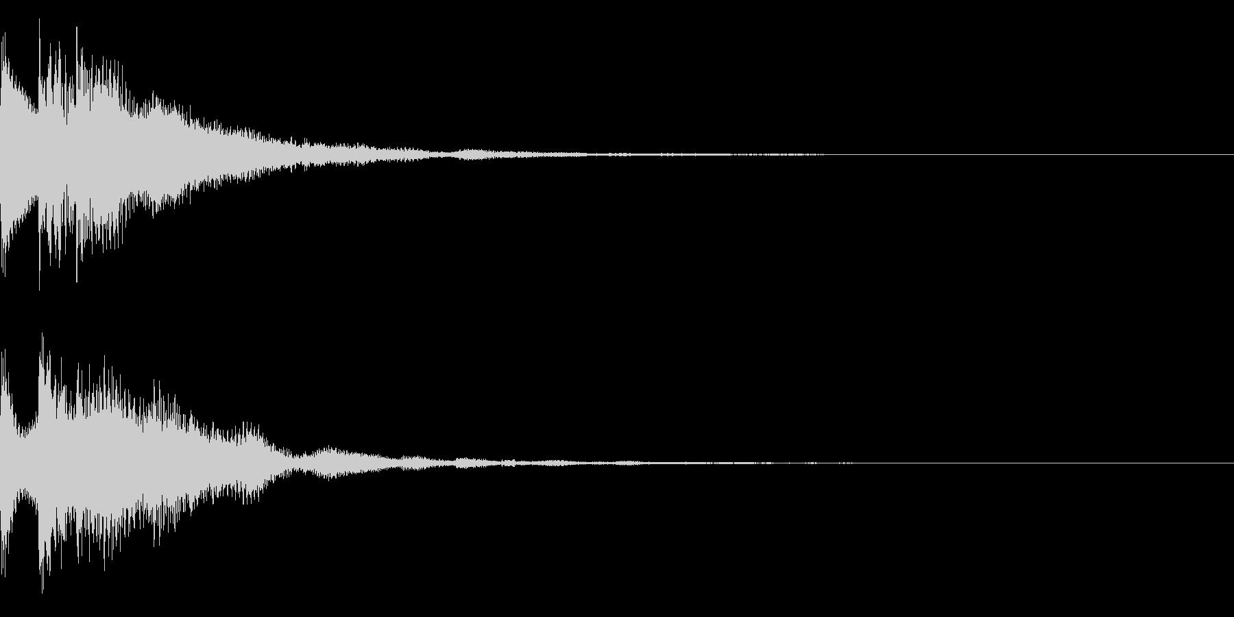 キュイン(ゲーム・アプリ等の決定音)の未再生の波形