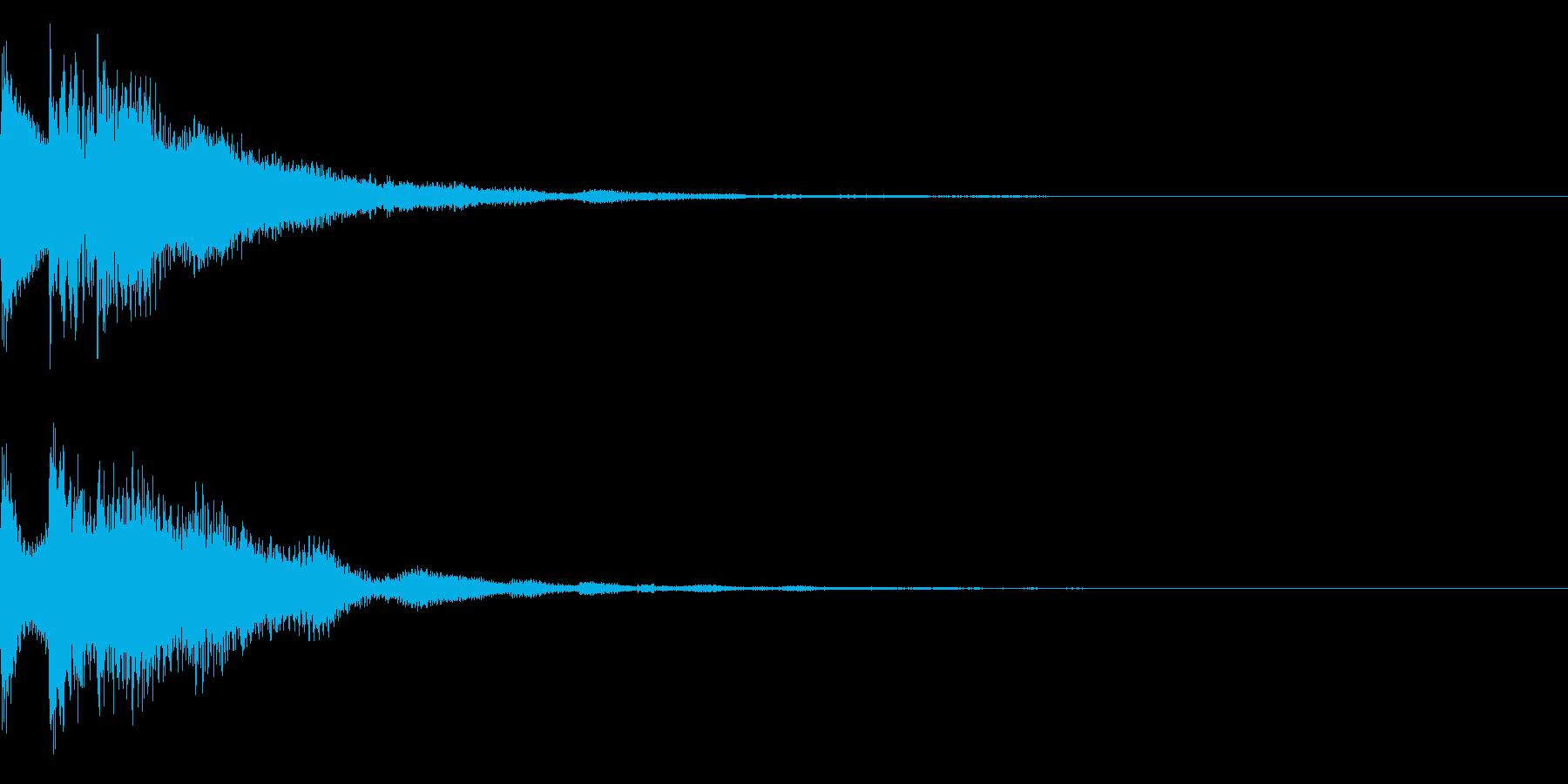 キュイン(ゲーム・アプリ等の決定音)の再生済みの波形