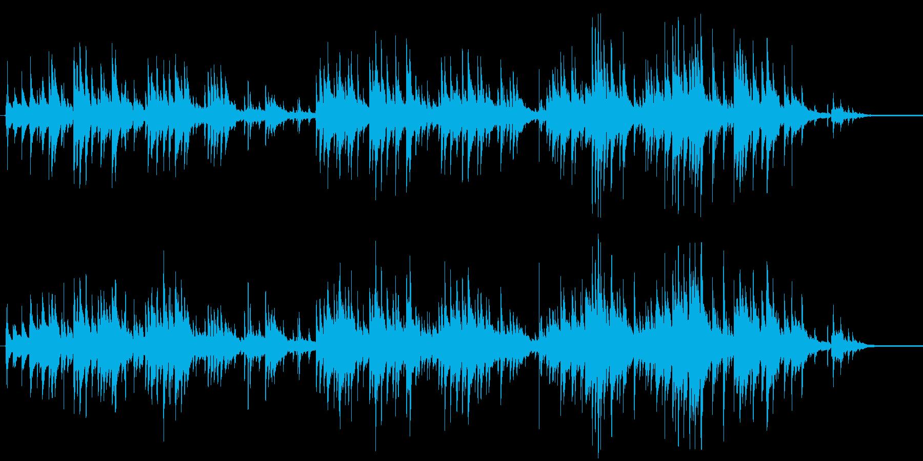 ガットギターによる温かいアンサンブルの再生済みの波形