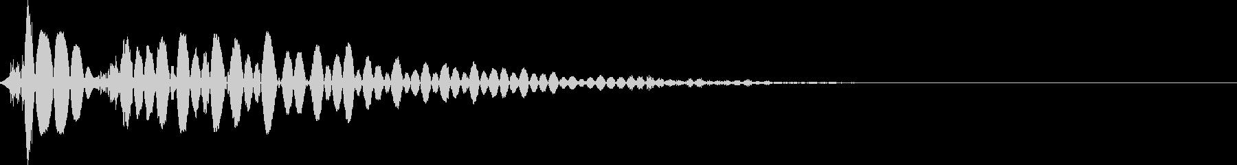 ポン(タッチ音・選択音)の未再生の波形