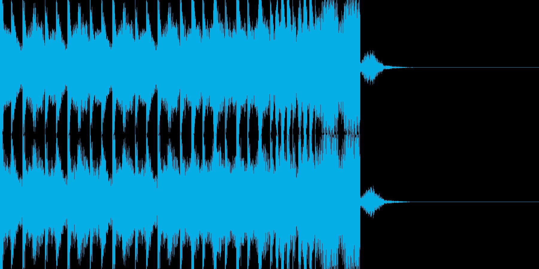BPM128EDMビルドアップですの再生済みの波形