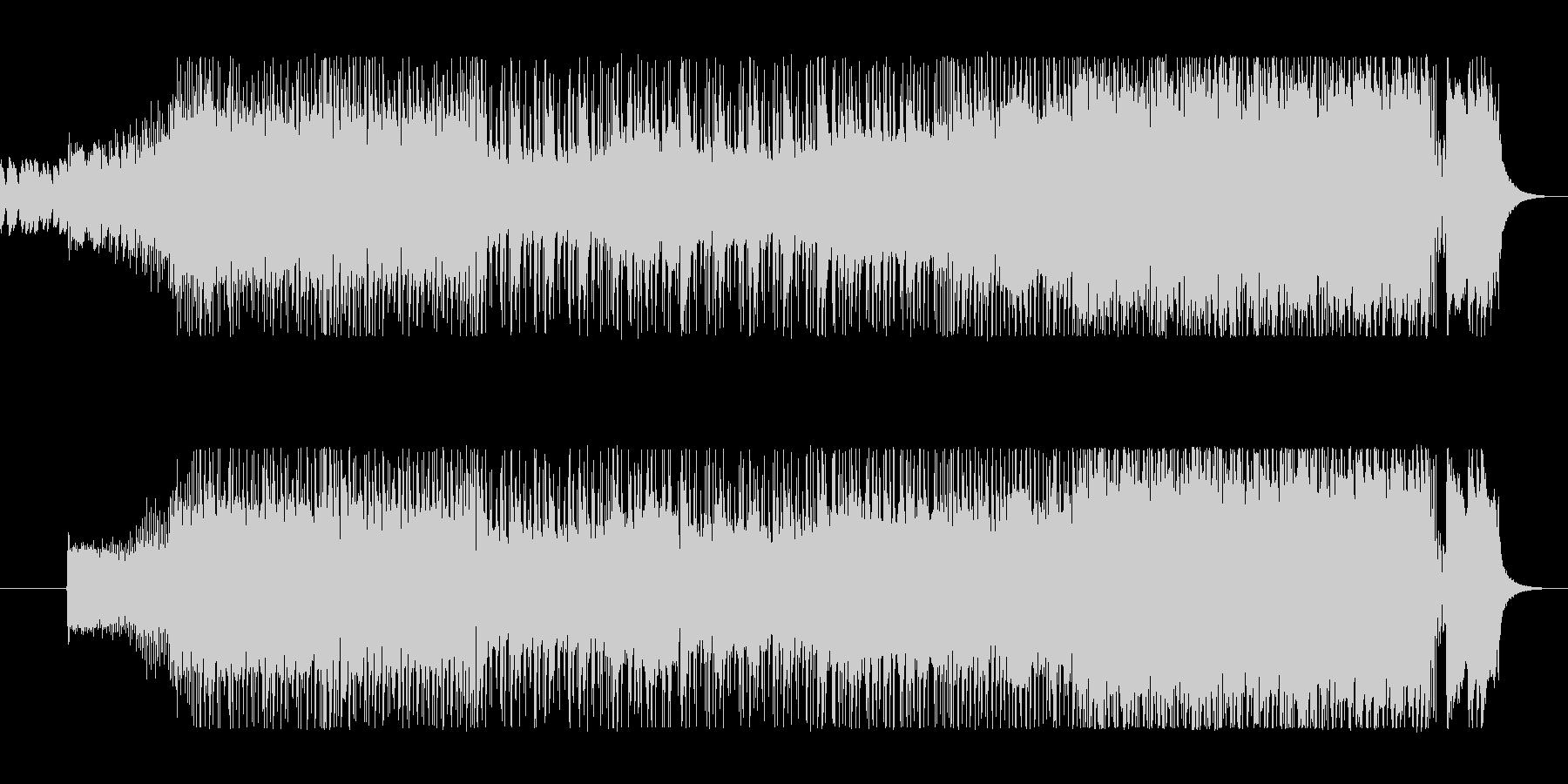 タイトなドラムとギターのハードロックの未再生の波形