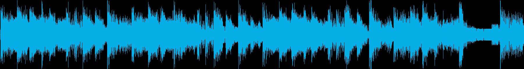 攻撃的なビートの効いたジングル_ループの再生済みの波形