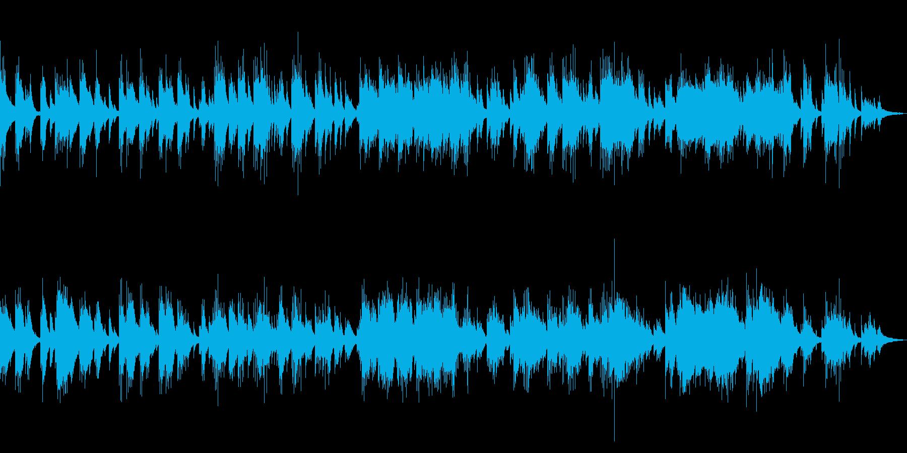 ミディアムテンポのピアノソロ曲の再生済みの波形