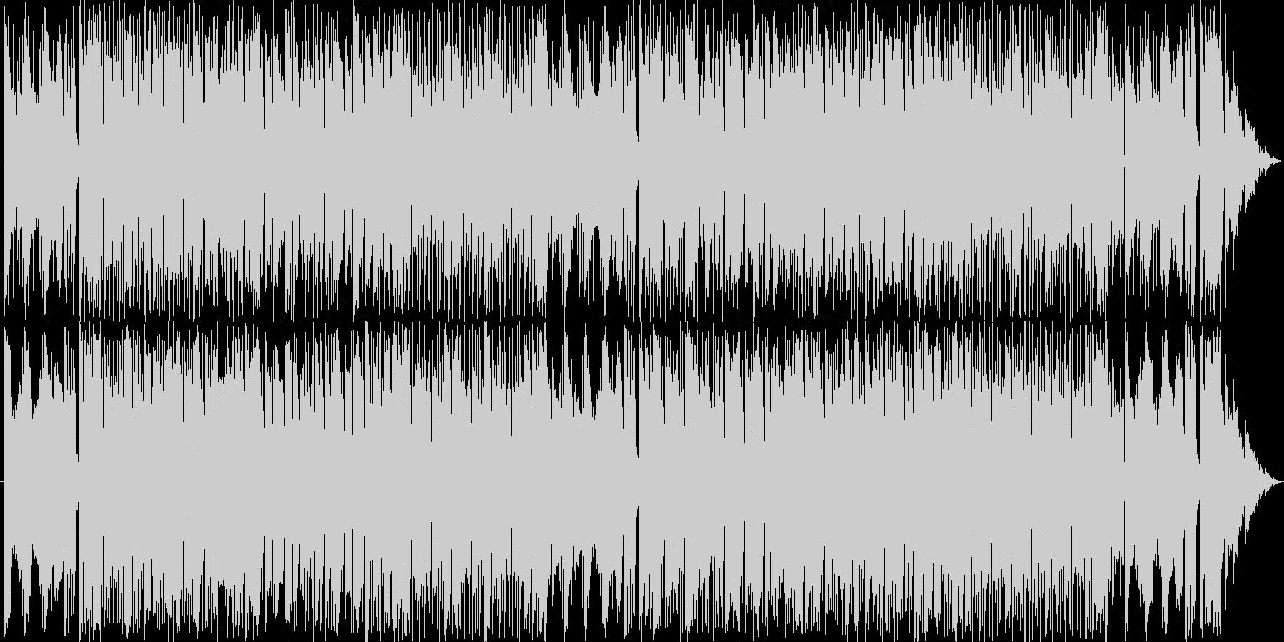 タイトルの通りフュージョン系の曲です。…の未再生の波形