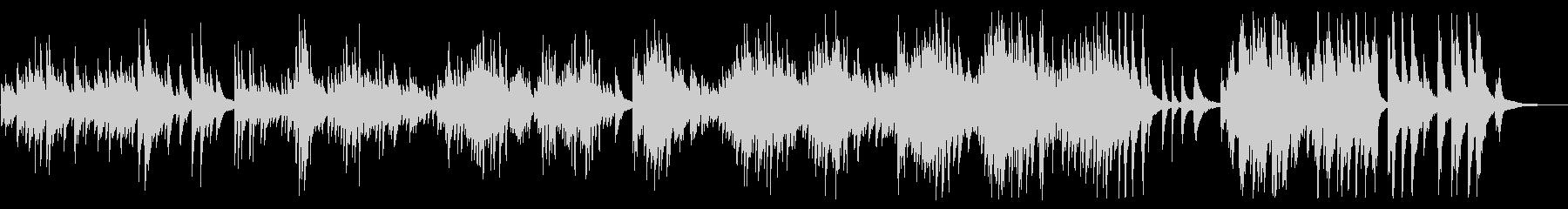 広がりのあるしっとりとしたピアノBGMの未再生の波形