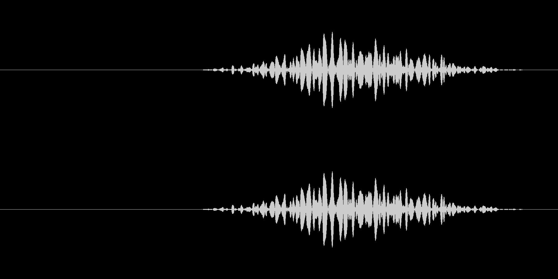 小さい引き戸を開ける音の未再生の波形