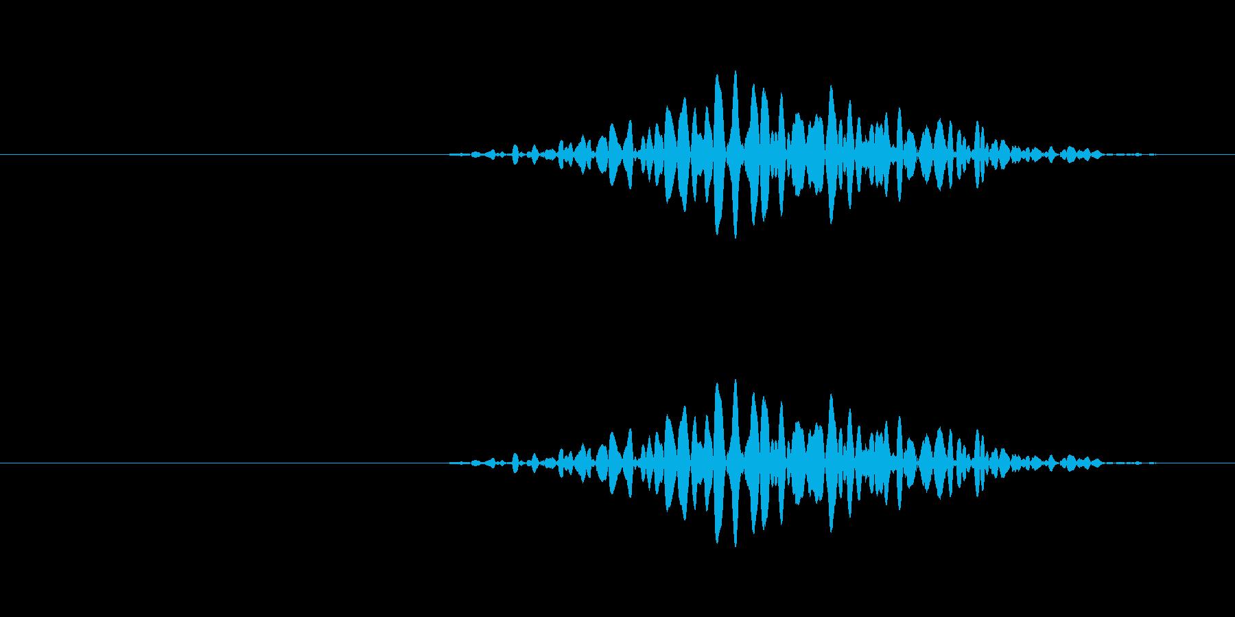 小さい引き戸を開ける音の再生済みの波形